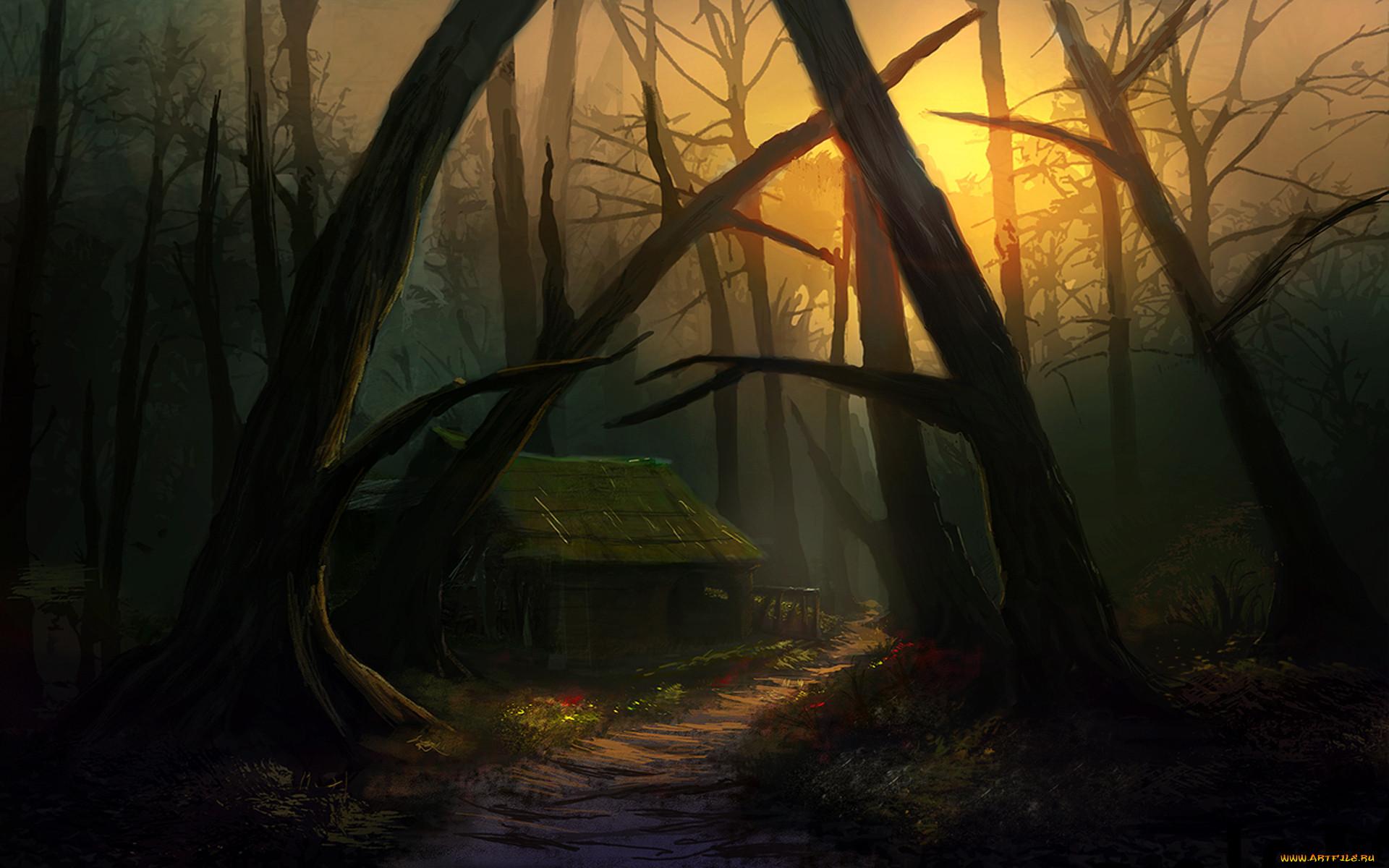 перчики наливались картинки фэнтези лес тропинка манные